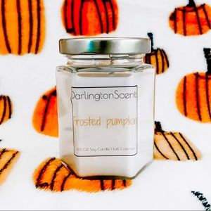 Frosted pumpkin soy candle